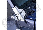 Zestaw zawiasów szyby czołowej, stal nierdzewna,97-06 Jeep Wrangler TJ