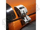 Zatrzask maski, srebrny, 07-15 Jeep Wrangler (JK)