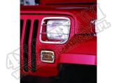 Osłony lamp, stal nierdzewna, 87-95 Jeep Wrangler (YJ)