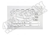 Zestaw akc. ozdobnych, srebrne, 07-10 Jeep Wrangler Unlimited JK