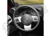 Zestaw akc. ozdobnych kierownicy, srebrne, 11-15 Jeep Wrangler JK