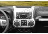 Ozdoba konsoli radia, srebrna, 11-15 Jeep Wrangler JK