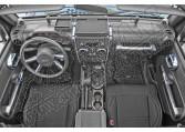Zestaw akc. ozdobnych wnętrza, chrom, 07-10 Jeep Wrangler JK 2 drzw.