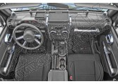 Zestaw akc. ozdobnych wnętrza, chrom,07-10 Jeep Wrangler Unlimited JK