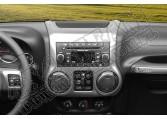 Ozdoba konsoli radia, grafit, 11-15 Jeep Wrangler JK