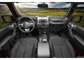 Zestaw akc. ozdobnych wnętrza, grafit, 11-15 Jeep Wrangler JK 2 drzw.