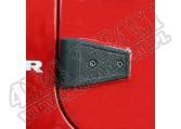 Zestaw osłon zawiasów drzwi, czarna tekstura,07-15 Jeep Wrangler JK