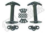 Klamry maski, czarne, 42-95 Jeep CJ/Wrangler