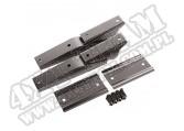Zawiasy tylnej klapy, stalowe, czarne, 97-02 Jeep Wrangler TJ