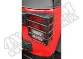 Osłony tylnych lamp, czarne, 07-15 Jeep Wrangler