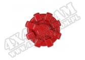 Aluminiowy korek paliwa Elite czerwony; 01-18 Jeep Wrangler TJ/LJ/JK/JKU
