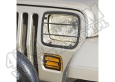 Osłony lamp przednich, zestaw, 87-95 Jeep Wrangler YJ
