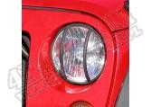 Osłony lamp przednich, czarne, 07-15 Jeep Wrangler JK