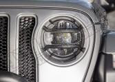 Osłony Elite lamp przednich, czarny tekstura; Jeep Wrangler JL