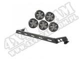 Zestaw reflektorów, czarny, 5 reflektorów LED, 07-15 Jeep Wrangler