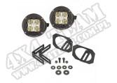 "Para LED okrągłe Dual 3,5"" Hi/Lo Off-Road z mocowaniami; 07-17 JK/JKU"