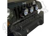 Poprzeczka do mocowania reflektorów, czarna teks, 07-15 Jeep Wrangler