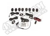 Oświetlenie LED Rock Light Kit z instalacją, 4-elementowe, białe; 07-16 Wrangler JK