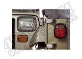 Osłony oświetlenia, czarne, 87-95 Jeep Wrangler YJ