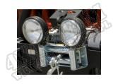 Prowadnica rolkowa wyciągarki z mocowaniami na halogeny