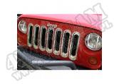 Wkładki atrapy, chrom, 07-15 Jeep Wrangler