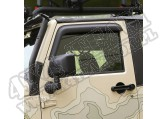 Owiewki okien bocznych, czarne matowe, 07-15 Jeep 2 drzw.