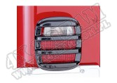 Osłony lamp tylnych, smoked, 76-06 Jeep CJ/Wrangler