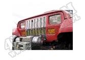 Wkładki atrapy, chrom, 87-95 Jeep Wrangler YJ