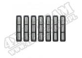 Wkładki atrapy, czarne, 97-06 Jeep Wrangler