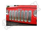 Wkładki atrapy, polerowane aluminium, 07-15 Jeep Wrangler
