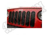 Wkładki atrapy, czarne, 07-15 Jeep Wrangler
