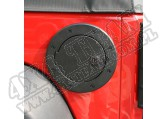 Drzwiczki korka wlewu paliwa z zamkiem, czarne aluminium, 07-15 Jeep Wrangler JK