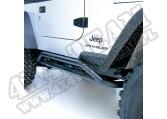 Osłony rurowe progów RRC, czarne, 87-06 Jeep Wrangler