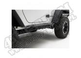 Osłony rurowe progów RRC, czarne, 07-15 Jeep Wrangler JK
