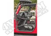 Drzwi rurowe przednie, czarna tekstura, 07-15 Jeep Wrangler JK