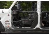 Przednie drzwi rurowe Fortis, czarna tekstura, z lusterkami; 18-18 Jeep Wrangler JL