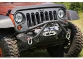 Wysięgnik Double X zderzaka XHD, czarny, 87-15 Jeep CJ/YJ/TJ/JK