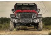 Przedni zderzak Spartacus, czarna satyna, 07-15 Jeep Wrangler