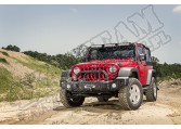 Zestaw przedniego zderzaka Spartacus, czarna satyna, 07-15 Jeep Wrangler