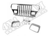 Nakładka atrapy, chrom, 87-95 Jeep Wrangler YJ