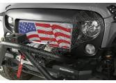 Wstawka grilla Spartan, Flaga USA; 07-15 Jeep Wrangler JK