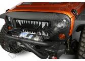 Wstawka grilla Spartan, Zęby; 07-15 Jeep Wrangler JK