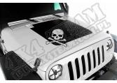 Kalkomania na maskę, Czaszka, 07-15 Jeep Wrangler