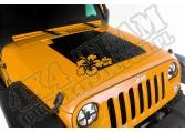 Kalkomania na maskę, Hibiscus, 07-15 Jeep Wrangler