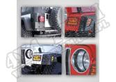 Zestaw osłon oświetlenia zewnętrznego czarny 97-06 Jeep Wrangler TJ