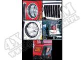 Zestaw osłon Euroguard czarny 97-06 Jeep Wrangler TJ