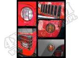 Zestaw osłon Euroguard czarny 07-15 Jeep Wrangler
