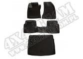 Zestaw dywaników przód/tył/bagażnik, czarny; 18-18 Jeep Compass MP