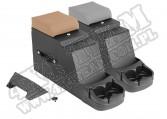 Konsola środkowa Stereo Security, szara, 76-95 Jeep CJ/Wrangler