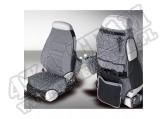 Pokrowce foteli przednich szare 76-06 Jeep CJ/Wrangler